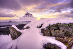 Kirkjufell Winter (Geinis) Tags: kirkjufell kuldi winter winterscapes weather white iceland ilce6000 snæfellsnes snow sea sky sonya6000 sonyilce6000 nature northern northerneurope stones