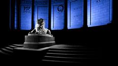 War memorial, Aberdeen-3.jpg (___INFINITY___) Tags: 2018 6d aberdeen bw godoxad360 toourgloriousdead architect architecture art blue building canon canon1740f4 color cowdrayhall darrenwright dazza1040 eos flash granite infinity light lightpainting lion magiclantern night red scotland sculpture statue stone strobist uk warmemorial wideangle