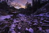 Winter Creek (Matt Thalman - Valley Man Photography) Tags: buffalocanyon colorado coloradosprings helenhuntfallsvisitorcenter northcheyennecañonpark northcheyennecreek building canyon creek flowing landscape snow sunrise trees water winter