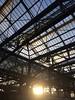 Glasgow Central in sunlight (markshephard800) Tags: station railways railway victorian sunlight glass windows glasgow scotland central sunrise dawn metal iron
