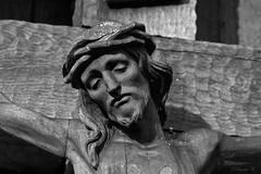 Das Gesicht Jesu (Renata1109) Tags: portrait porträt kreuz jesus gesicht skin bayern heimatgeschichte holz schnitzerei augen mund wangen nase bart haare natur gott strucktur