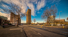 The Student Hotel Eindhoven. (Alex-de-Haas) Tags: 11mm aurorahdr brabant d750 dutch eindhoven hdr holland irix nederland nederlands netherlands nikkor nikon noordbrabant photomatix ambiance building center centrum city clouds daglicht daylight dorp flat gebouw innercity sfeer skies sky stad straat street structure structures town urban winkelstraat winter wolken