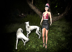 LuceMia - The Darkness Monthly Event (MISS V♛ ITALY 2015 ♛ 4th runner up MVW 2015) Tags: thedarknessmonthlyevent sl posesion poses lingerie dress hair laperla nyne creations mesh models lucemia