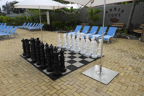 Outdoor Chess Game, Amber Cove, Dominican Republic