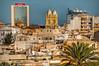 Tunisi da una delle terrazze nella Medina (rosella sale) Tags: tunisi tunisia africasettentrionale case palma panoramica chiesa viaggi travel tetticase fotorosellasale