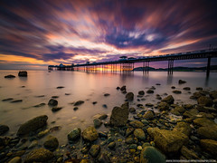 Llandudno Pier (Richard Walker Photography) Tags: coast llandudno landscape rocks nature pier sunrise beach clouds snowdonia ocean reflection longexposure sea