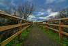 HFF (stellagrimsdale) Tags: lines fence fences happyfencefriday hff sky path 7dwf
