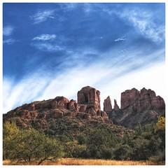 Cathedral Rock, Sedona (Phong L) Tags: us canyon desert clouds travel america hiking redrocks red southwest sedona arizona
