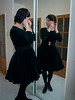 Velvet retro (blackietv) Tags: green velvet dress full skirt petticoat housewife vintage retro tgirl transvestite crossdresser crossdressing transgender mirror