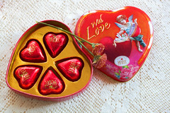 With Love (JMS2) Tags: stilllife closeup candy valentine heart box red