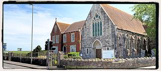 Holy Spirit and St Edwards Catholic Church in May 2017, Victoria Ave, Swanage, Dorset, England.
