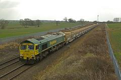 Clayton, South Yorkshire (DieselDude321) Tags: 66607 class 66 freightliner 6e88 0945 mountsorrel sidings tyne ss sorting clayton south yorkshire