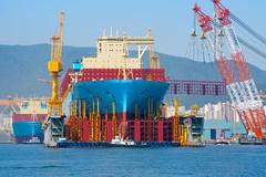 MANCHESTER MAERSK (Ugborough Exile) Tags: dsme geoje okpo korea a6300 sony 2017 ships