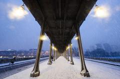 Snowing III (A.G. Photographe) Tags: anto antoxiii xiii ag agphotographe paris parisien parisian france french français europe capitale d810 nikon nikkor 1424 pontbirhakeim neige snow