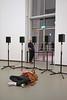 Visiteurs dans l'installation sonore de Janet Cardiff (Fondation Louis Vuitton, Paris) (dalbera) Tags: dalbera fondationvuitton paris france flv moma janetcardiff visiteurs