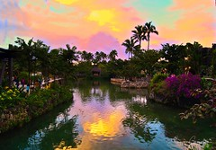 Colorful Sunset (Gans 10) Tags: blue pink yellow nature stilllife polynesianculturalcenter oahu hawaii colorful sunset