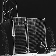 Tiffany (claire.nish) Tags: depression isolation separation lost longing love divorce pain abandonment waiting watching cigarette wishing wish wonder blackandwhite 35mm film