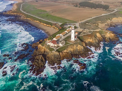 Birds Eye View (Justin Garofano) Tags: dgi drone phantom3 lighthouse california pacific ocean