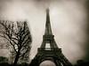 The Eiffel Tower (Feldore) Tags: paris eiffel sepia faux vintage retro misty moody mist clouds france feldore mchugh em1 olympus 1240mm architecture winter