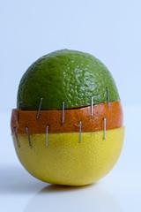 Frankencitrus (Crisp-13) Tags: lime mandarin orange lemon hybrid frankensteins monster staples citrus fruit