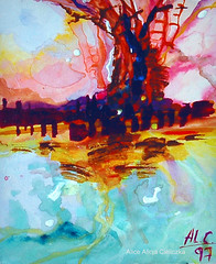 暑い風景 (alice 240) Tags: 暑い風景 painting paisajescalientes artist watercolor visualart watercoloronpaper magic traditionalart abstract visualpoetry modernart fineart contemporaryart gallery alice240 atelier240art art alicealicjacieliczka expressionism museum creative illustration artistic poetry dream fantasy expression artcityartists artgalleryandmuseums