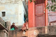 Pilgrims on ghat in Varanasi (n1ck fr0st) Tags: india trip varanasi indian ganga ghat woman salvar camis sari pilgrim gaṅgā ganges