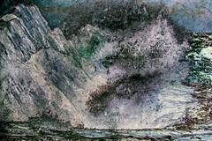 chaotic instant (Francis Mansell) Tags: wave breakingwave splash rock abstract nikanalogefexpro2 water sea