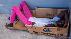 2017 - Regent Cruise - Antigua - St. John's Street Person (Ted's photos - For Me & You) Tags: 2017 antigua cropped nikon nikond750 nikonfx regentcruise stjohn'santigua tedmcgrath tedsphotos vignetting box teeth dents cardboard cardboardbox hangzhouyifangchemicalfibercoltd male man sleeping prone pants yifang yifangchemicalfibercoltd yifangchemicalfiberco hangzhou hangzhouyifangchemicalfiberco sandals feet whiteshirt streetscene street people iso9001 iso90012008 dty boxed asleep resting beard