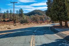 Driving through Three Points (joe Lach) Tags: threepoints sierrapelonamountains foothills losangelescounty road curve trees telephonepole california joelach