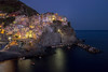 manarola blue hour (AlbertMu7) Tags: italy blue hour manarola seascape town