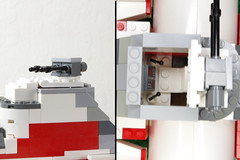 Dorsal Turret (Evrant) Tags: star wars hammerhead corvette interior custom moc lego spaceship