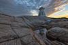Terence Bay, Nova Scotia (B.E.K. Photography) Tags: sunset reflection terence bay nova scotia rocks water sky clouds puddle lighthouse nikond600 nikon1735f28