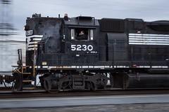 Late Start (lukeharwell) Tags: northcarolina railroad train shutter pan remotecontrol gastonia southernrailway norfolksouthern emd highhood gp382