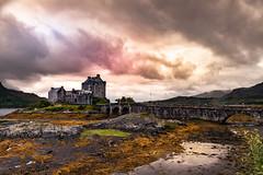 Eilean Donan castle (Lluvia Fotografia) Tags: eileandonan castle redsky nature sunset scotland water bridge landscape sky clouds