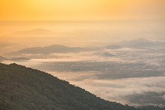 Sea of Cloud at Sunrise - Khao Khitchakut (Chanthaburi) (baddoguy) Tags: aerial view atmospheric mood backgrounds beauty in nature cloud sky cloudscape color image copy space dawn dramatic famous place fog forest heaven high angle hiking horizon horizontal local landmark majestic mountain peak national park no people nonurban scene photography religion rock object formation sea silhouette spirituality sunrise thai culture thailand tourism tranquil tranquility travel destinations tropical climate pattern wallpaper decor