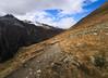along the border (koaxial) Tags: pa089719a1 koaxial mountains berge südtirol clouds wolken path weg steep landscape nature 2017