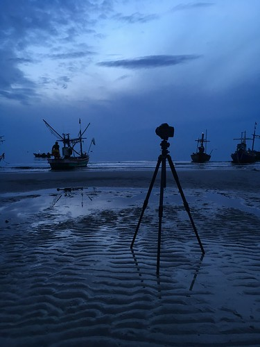 Hua Hin, Thailand. The fishermen at Hua Hin beach.