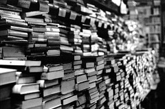 b a written or printed work consisting of pages glued or sewn together along one side and bound in covers (Ian Allaway) Tags: books 35mm analogue nikonfm2 fomapan 200 tetenal ultrafin