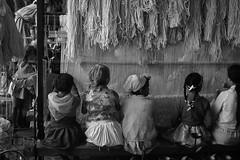 Moroccan Children Making Rugs In Monochrome - circa 1970 (Modkuse) Tags: morocco rugs weaving monochrome bw