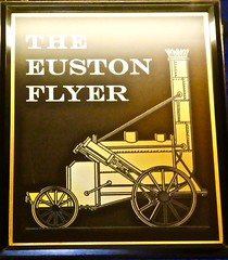 The Euston Flyer - St. Pancras, London NW1. (garstonian11) Tags: pubsigns pubs stpancras london fullers realale