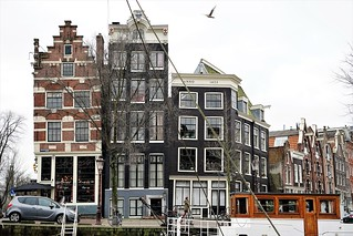 Leaning houses in Amsterdam
