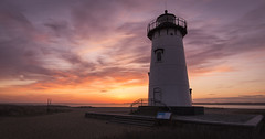 Egartown Lighthouse (shammondphoto) Tags: sunrise goldenhour dawn lighthouse edgartown marthasvinyard massachusetts cloud sky colour vivid contrast coastal april outdoor travel