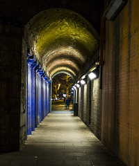 Railway Arches, Spa Road, Bermondsey (London Less Travelled) Tags: uk unitedkingdom england britain london night nighttime darkness dark bermondsey southwark rail railway arches