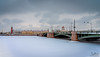 The frozen river (Tony_Brasier) Tags: icecold ice river raw russia road rocks red church cars cathedral nikond7200 1750mm sigma sky snowing snow water walking bridge buildings st petersburg lovely location