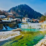 Kieferer Bach in winter in Kiefersfelden, Bavaria, Germany thumbnail