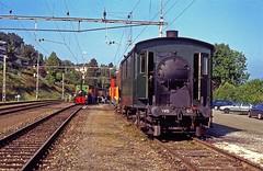 R8395.  HWB Ec 3/3 Nr. 5 at Küssnacht am Rigi. (Ron Fisher) Tags: hwb huttwilwolhusenbahn ec33nr5 ec33 küssnachtamrigi sbb sbbcffffs switzerland swissrailways sbbhistoric steam steamlocomotive steamengine dampflok locomotive locomotiveàvapeur transport train sonderzug zug schweiz suisse lasuisse dieschweiz schweizerischeeisenbahnen eisenbahneninderschweiz railwaysofswitzerland eisenbahn chemindefer rail railway railroad