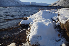 Snowy Shores of Loch Muick (steve_whitmarsh) Tags: aberdeenshire scotland scottishhighlands highlands winter snow ice lochmuick water loch lake