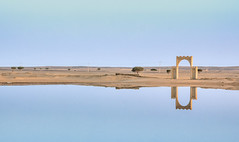 Welcome to Kasbah Leila (daverodriguez) Tags: merzouga sand kasbahleila morocco arches water sky oasis ergchebbi