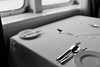 (l i v e l t r a) Tags: silverware utensils bw monochrome table window light plate cloth blackandwhite lighting f18 35mmf18ged nikkor df arrangement