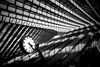 3:21 PM (Blende1.8) Tags: liègeguillemins liège clock uhr bahnhofsuhr bahnhof lüttich station belgium belgien urban architetcure shadow shadows line lines linien sony alpha ilce7m2 a7m2 a7ii emount carstenheyer interior light licht schatten unschärfe dof architektur santiagocalatrava calatrava zeiss loxia 35mm